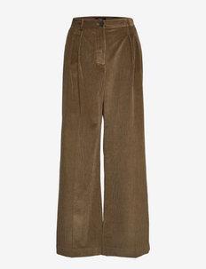 BELLA - bukser med brede ben - mud