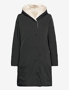 EGUALE - padded coats - black