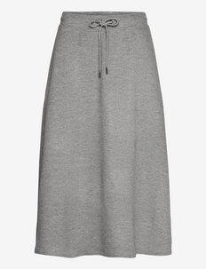EDUCATA - vidutinio ilgio sijonai - light grey