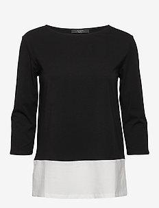 MULTIA - basic t-shirts - black