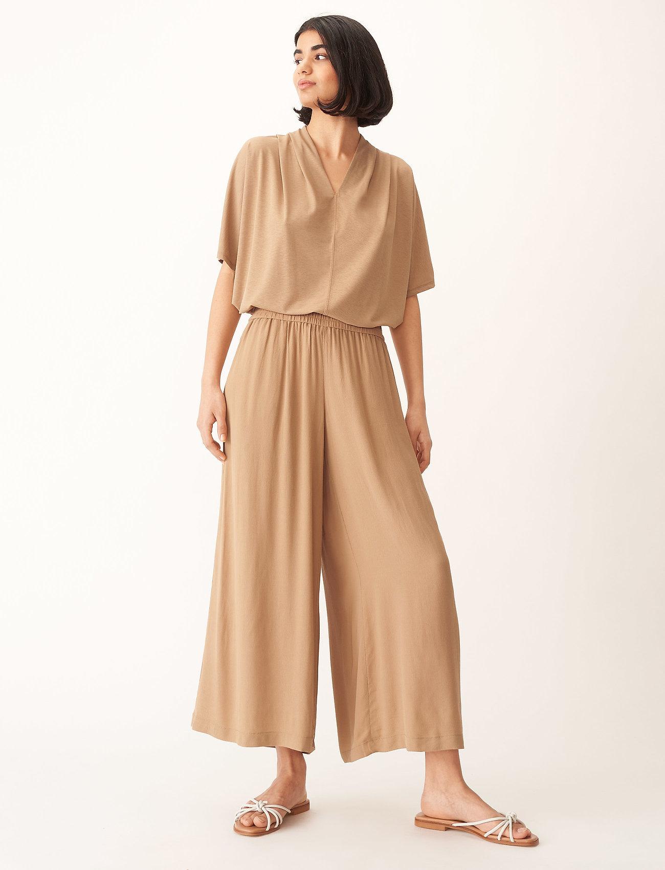 Wera - DIMA - bukser med brede ben - honey - 0