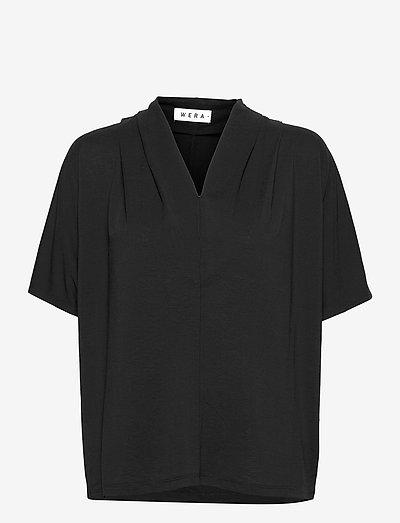 LIPA - short-sleeved blouses - black