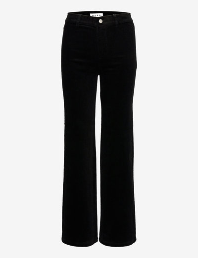 PAULINA - bukser med brede ben - black