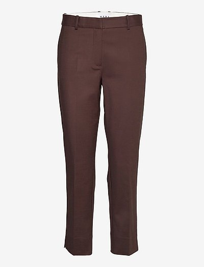 TITAN - bukser med lige ben - black coffee