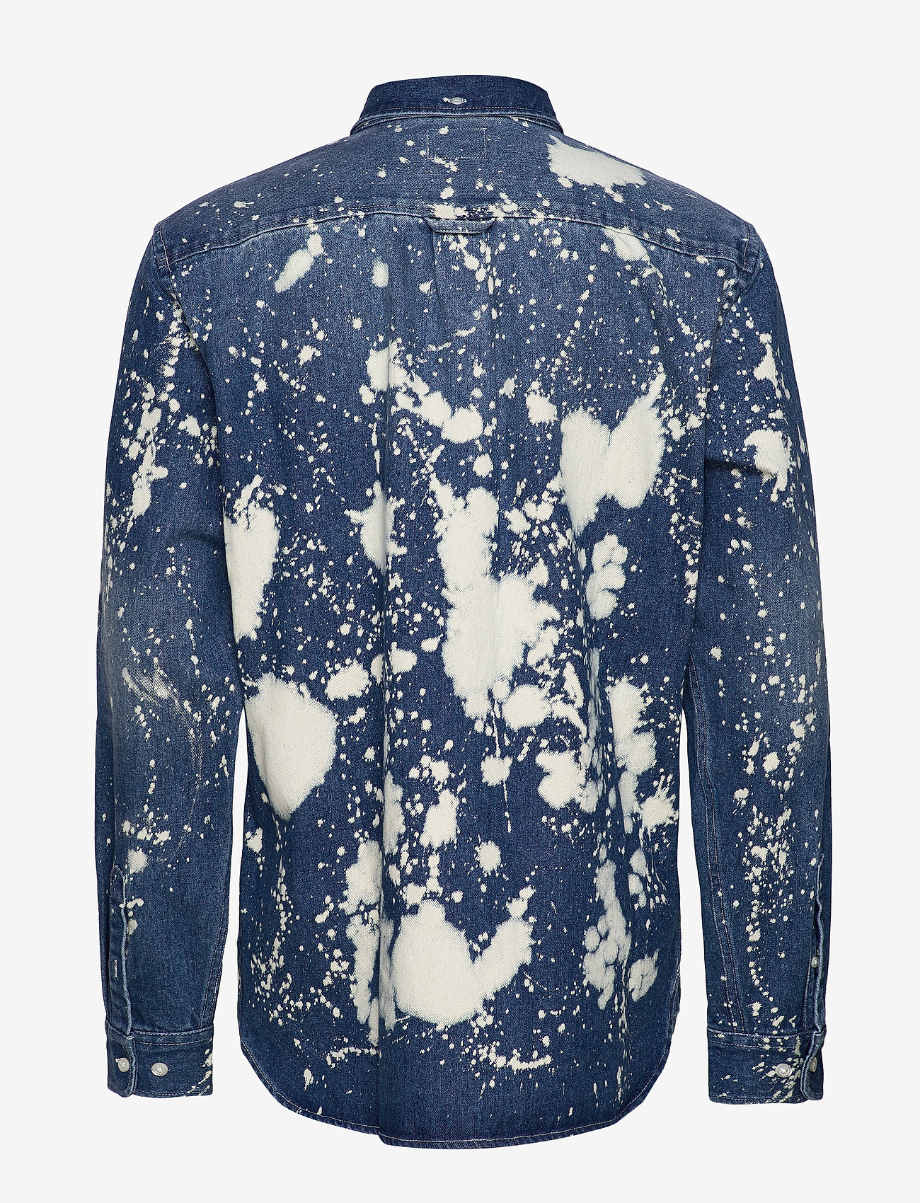 WeSC - Olavi Denim Shirt - casual hemden - bleach splatter denim - 1