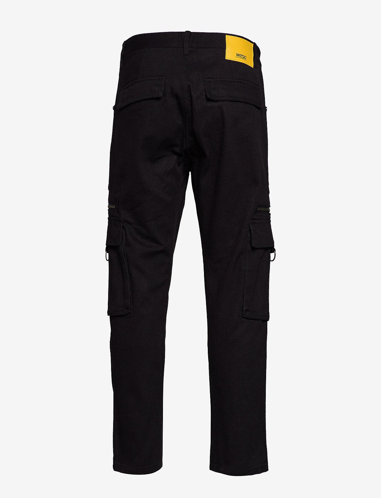 WeSC - Tapered Utility Pant - cargohose - black - 1