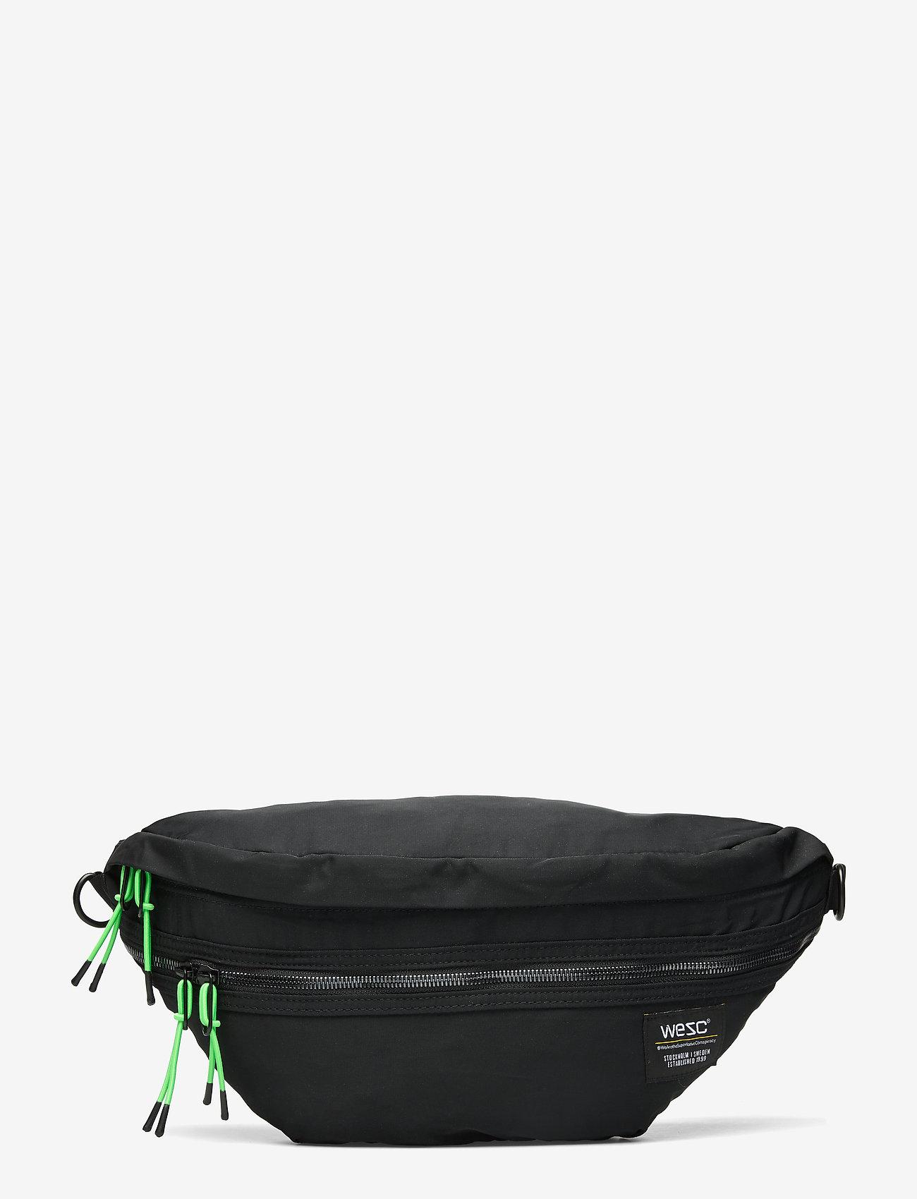WeSC - Nylon XL Belt Bag - gürteltaschen - black - 0