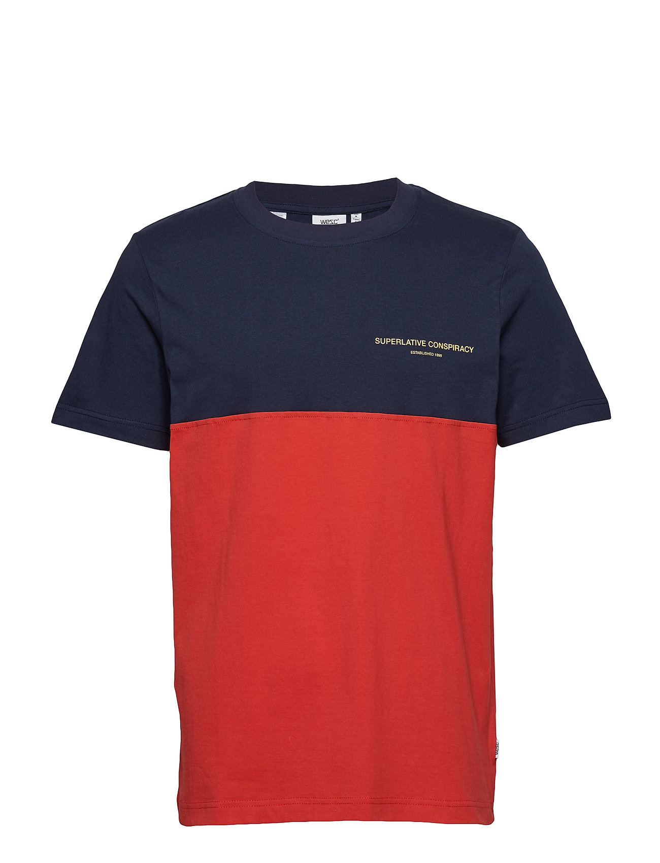 WeSC BLOCK T-SHIRT - NAVY BLAZER
