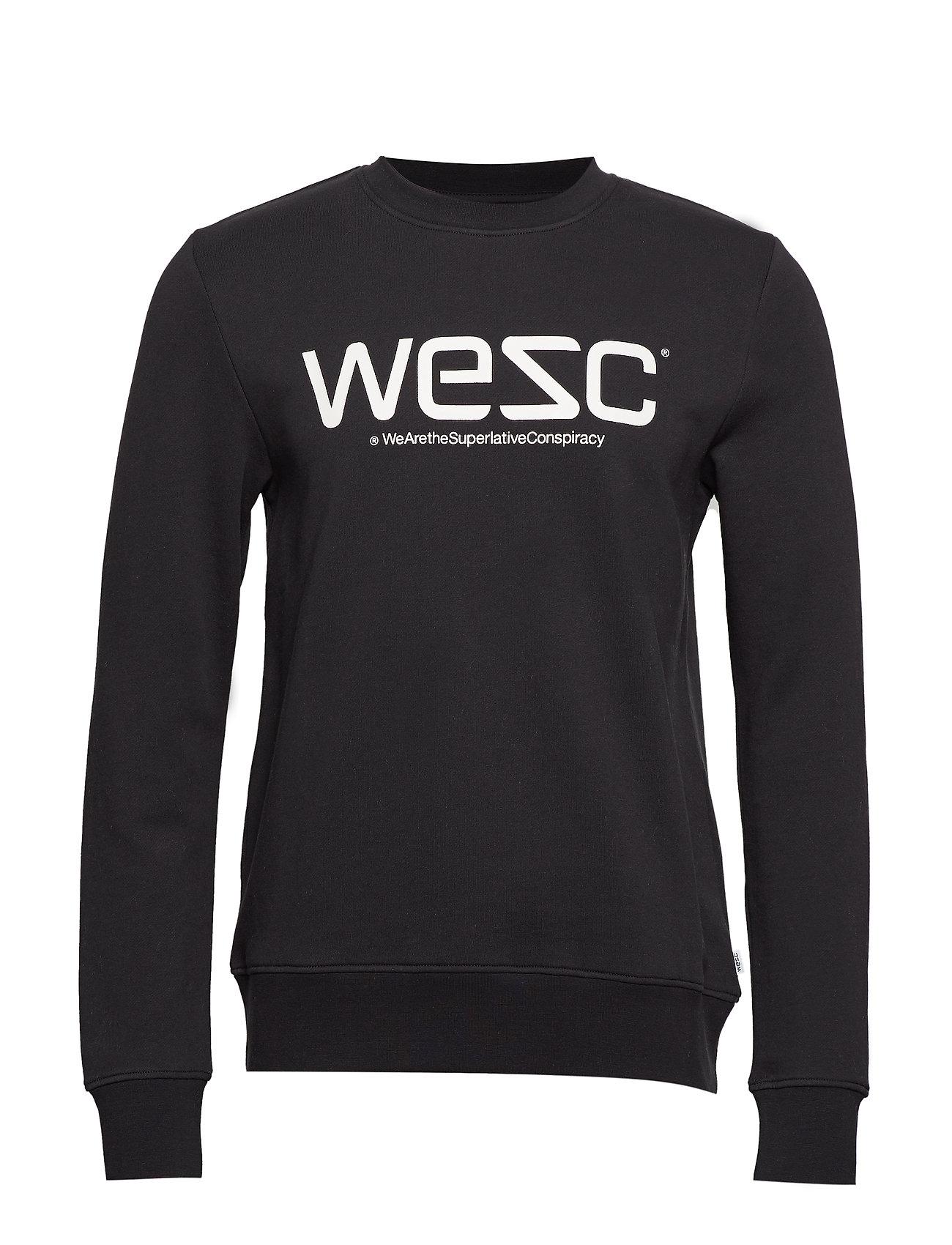 WeSC WeSC SWEATSHIRT - BLACK