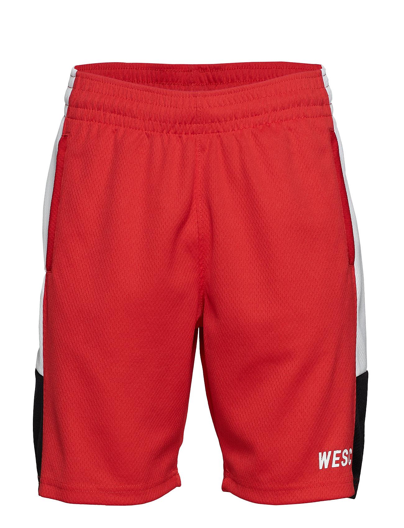 WeSC B-BALL SHORTS - BLOOD RED
