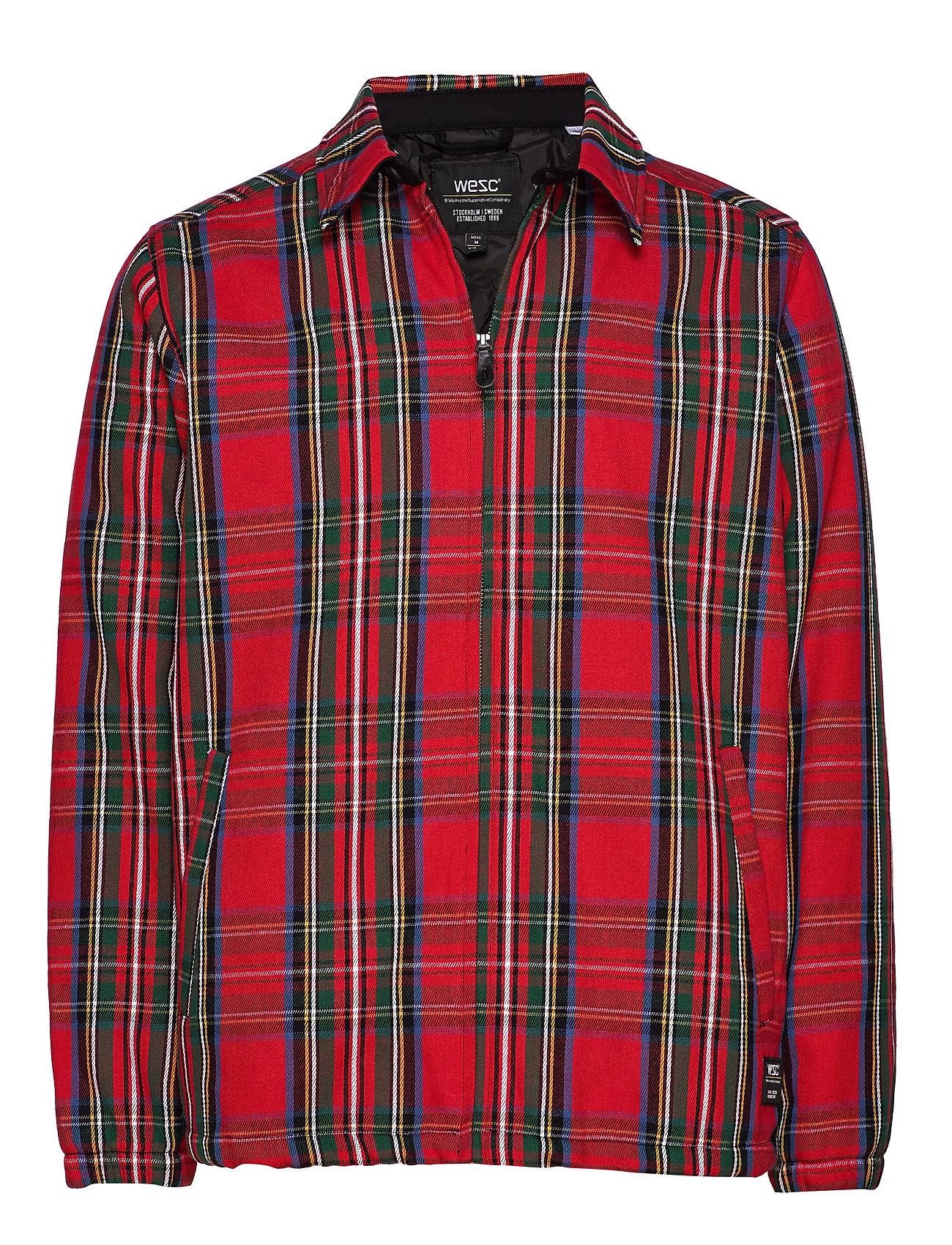 WeSC Coach Tartan Zip Jacket - SALSA RED