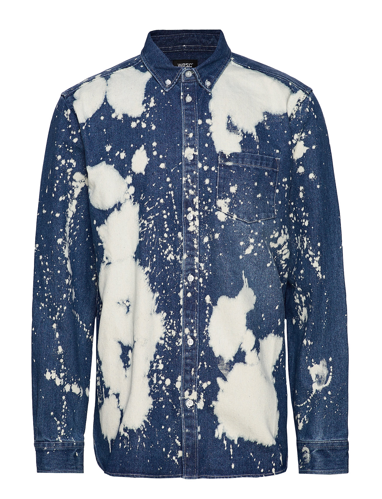 WeSC Olavi Denim Shirt - BLEACH SPLATTER DENIM