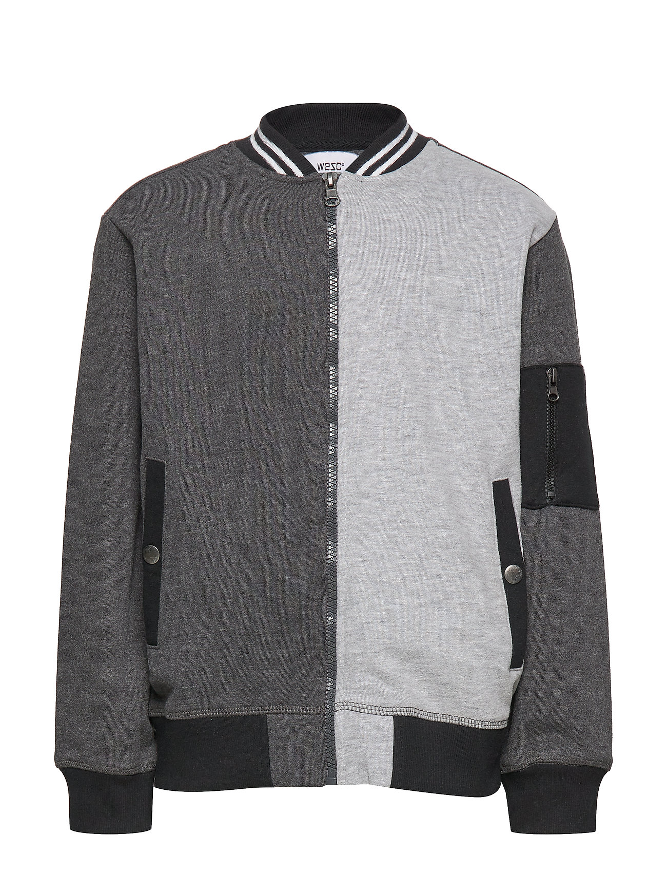 WeSC BLOCK JACKET Big Boy - HEATHER CHARCOAL