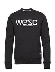 WeSC SWEATSHIRT - BLACK