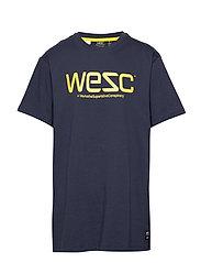 WeSC T-SHIRT - NAVY