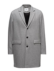 Rock wool coat - GREY MELANGE