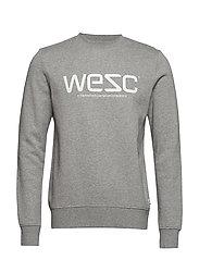 WeSC SWEATSHIRT - GREY MELANGE