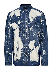 Olavi Denim Shirt - BLEACH SPLATTER DENIM