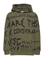 SUPERLATIVE HOODIE Little Boy - OLIVE