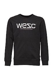 WESC SWEATSHIRT Big Boy - BLACK