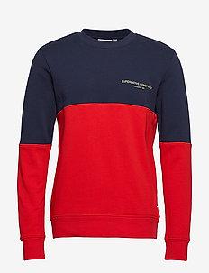 BLOCK SWEATSHIRT - swetry - navy blazer