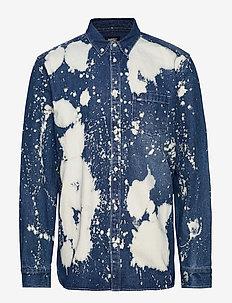 Olavi Denim Shirt - BLEACH SPLATTER DENIM