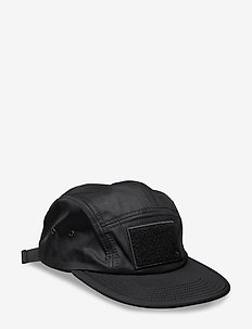 Soft Velcro 5 Panel Cap - BLACK