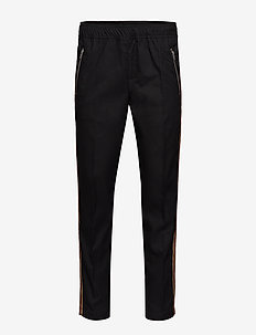 Ace Striped Trousers - casual - black