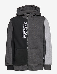 BLOCK ZIP HOODIE Little Boy - BLACK