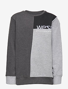 BLOCK SWEATSHIRT Big Boy - HEATHER CHARCOAL