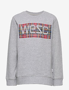 MILES TARTAN LOGO Little Boy - HEATHER GREY