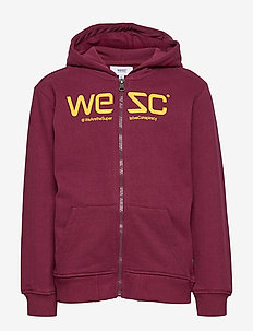 LOGO ZIP HOODIE Little Boy - BURGUNDY