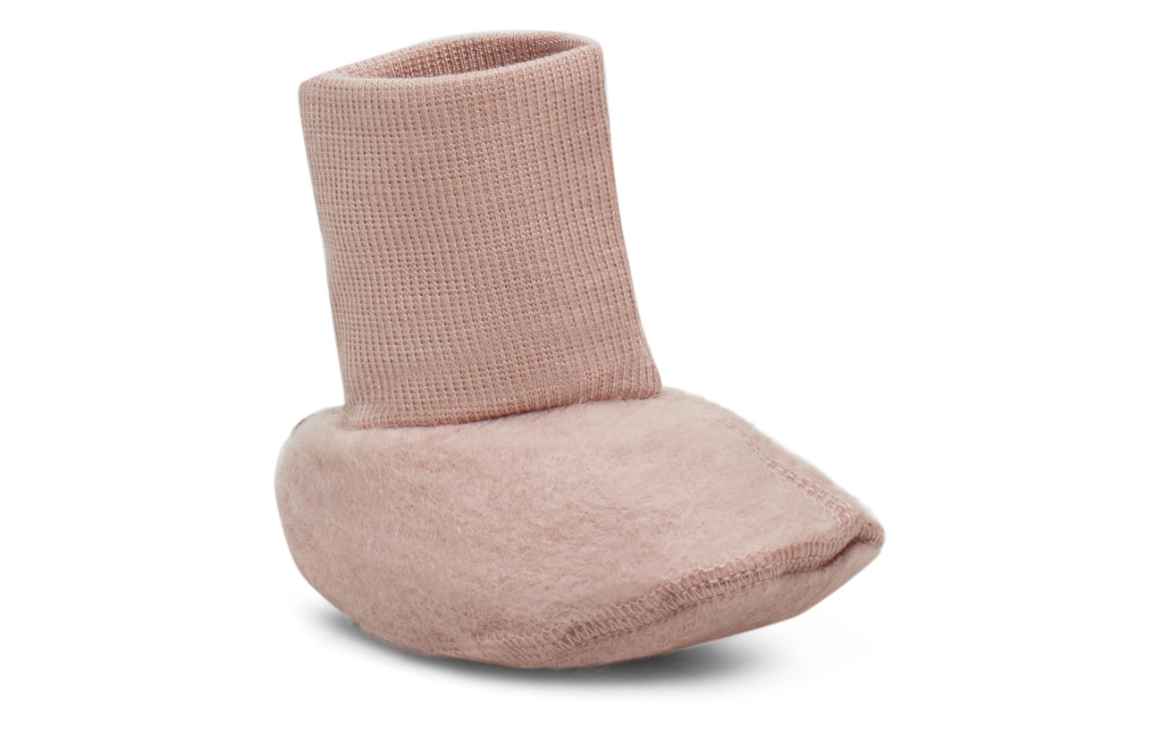 Wheat Felted Wool Booties - FAWN