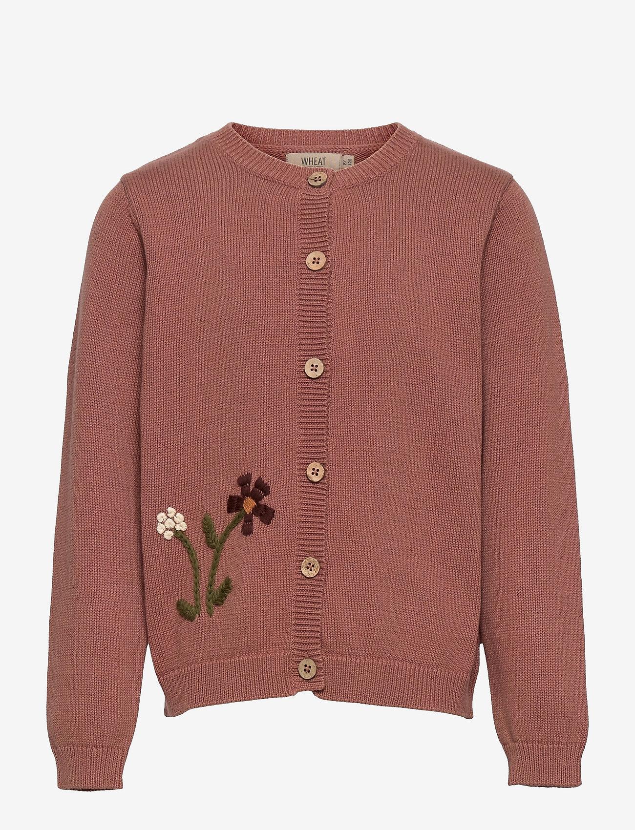 Wheat - Knit Cardigan Ella - gilets - rose cheeks - 0