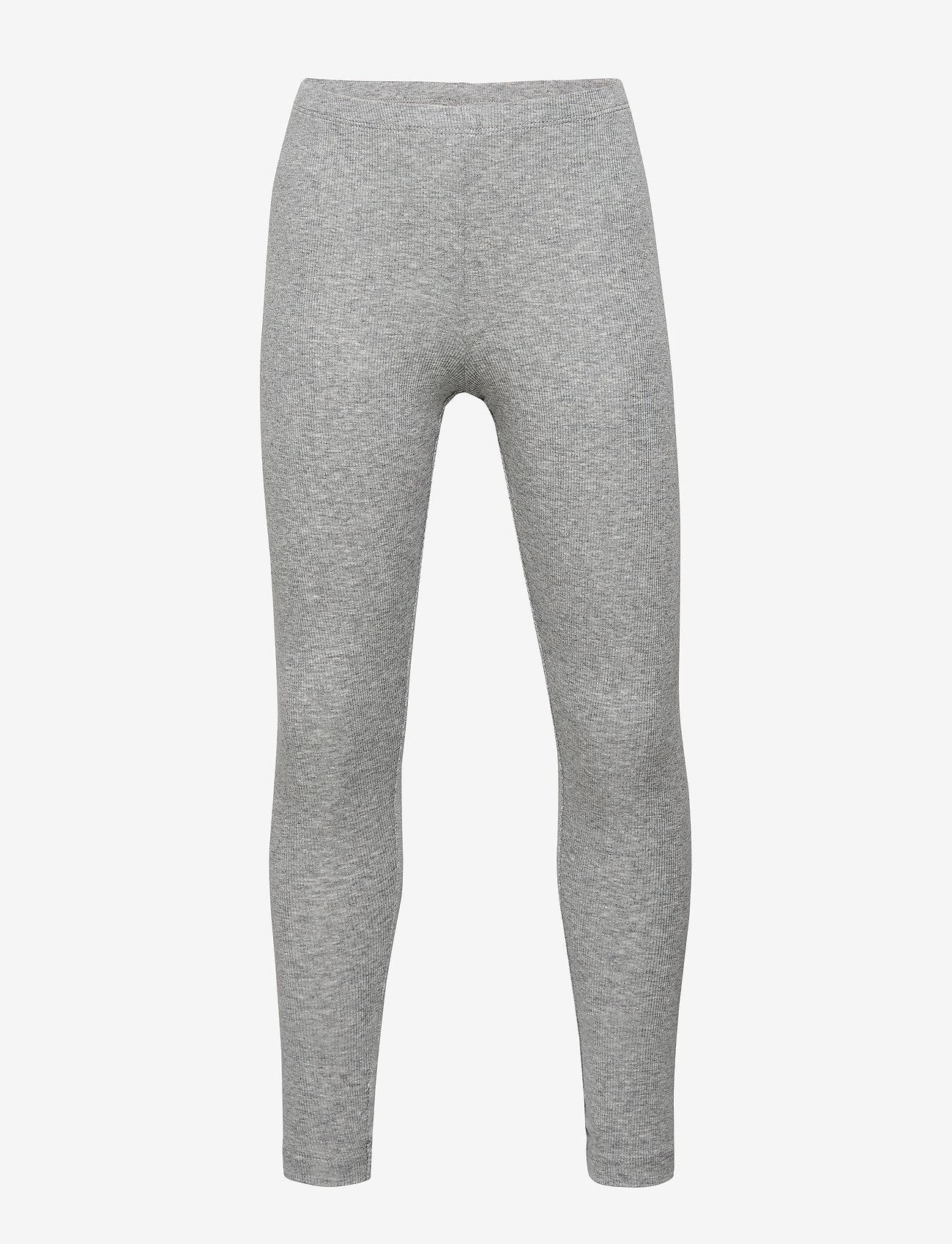 Wheat - Rib Leggings - leginsy - melange grey