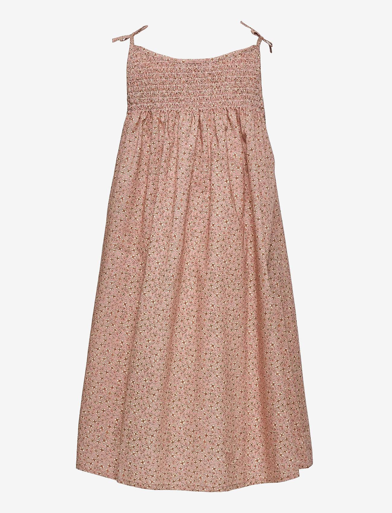 Wheat - Dress Elise - kleider - misty rose flowers - 1