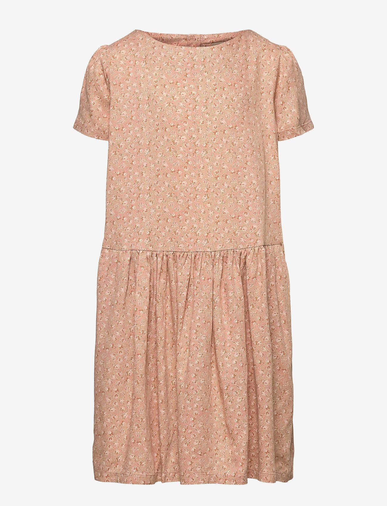 Wheat - Dress Agnete - kleider - rose flowers - 0