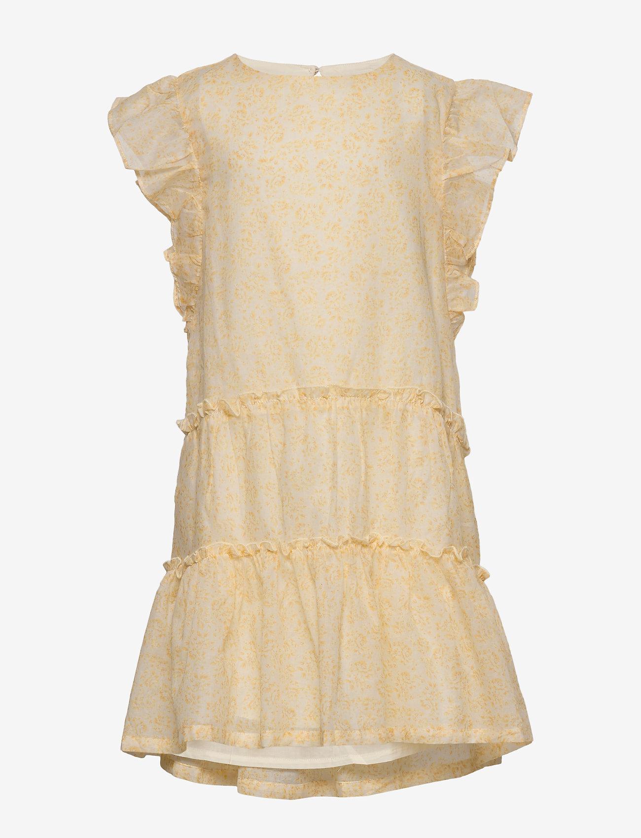 Wheat - Dress Louise - kjoler - lemon flowers - 0