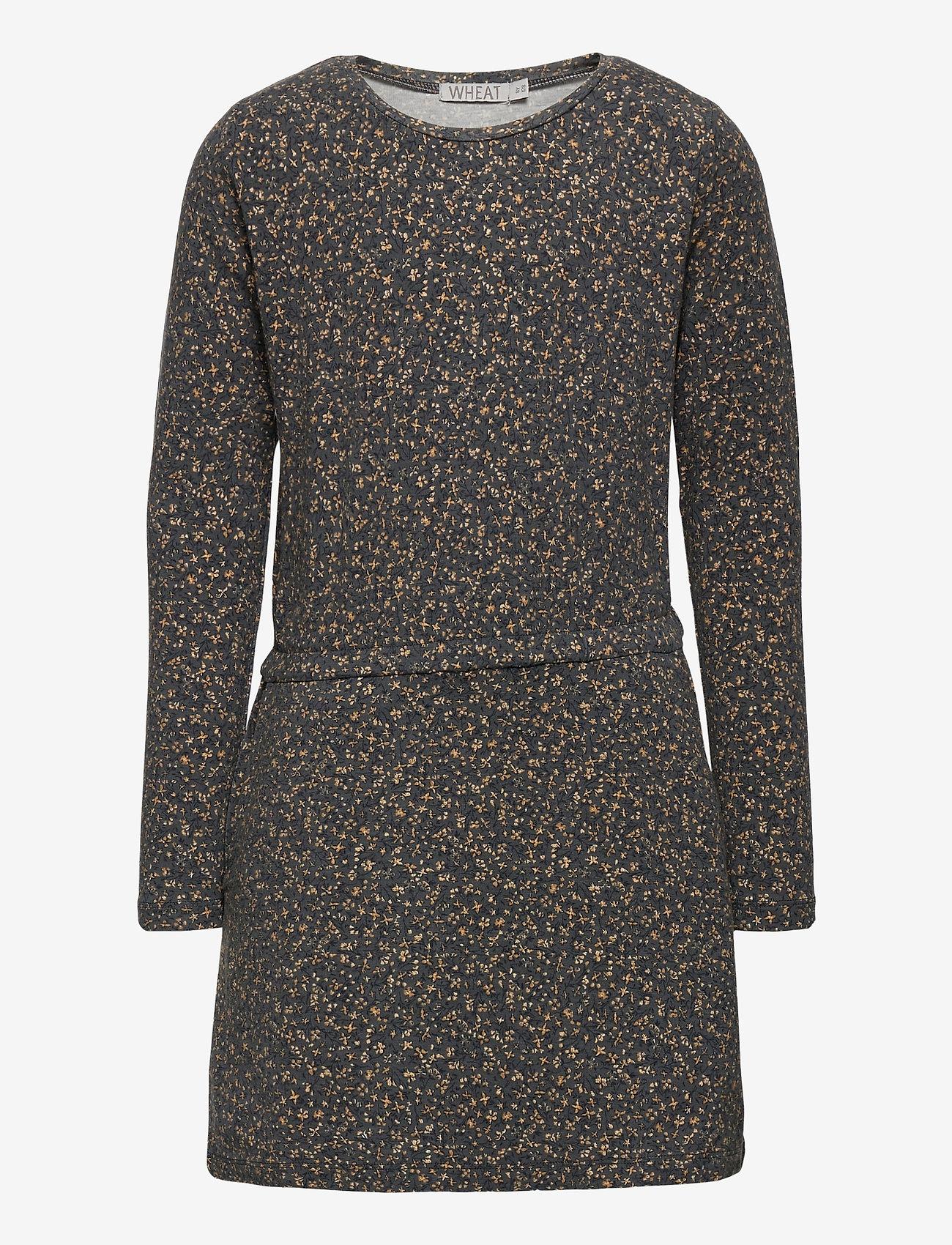 Wheat - Dress Odile - kleider - greyblue flowers - 0