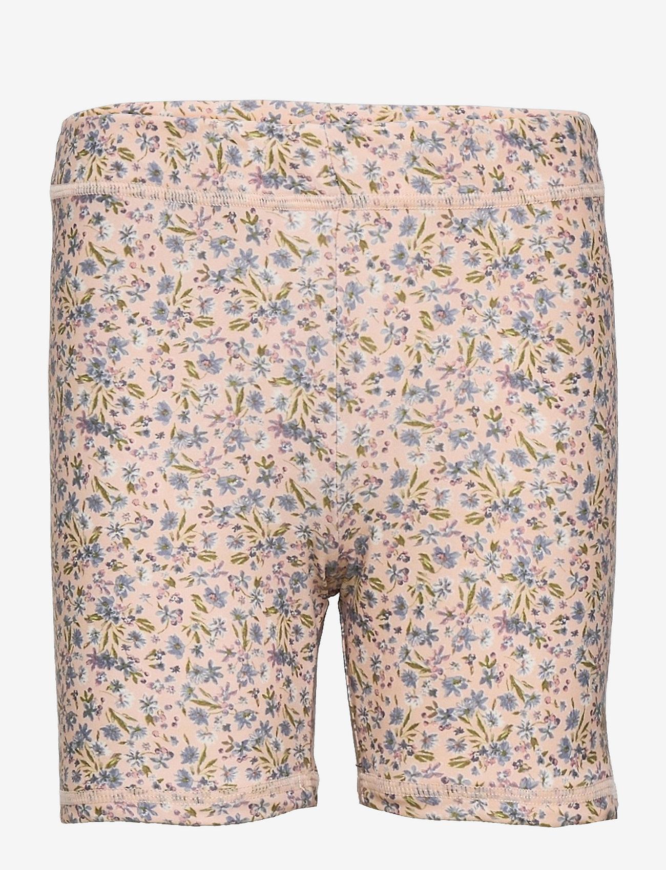 Wheat - Swim Shorts Niki - badehosen - blue flowers - 0