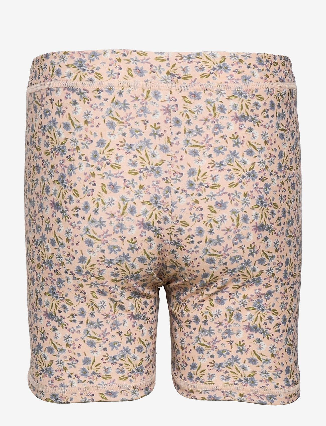Wheat - Swim Shorts Niki - badehosen - blue flowers - 1