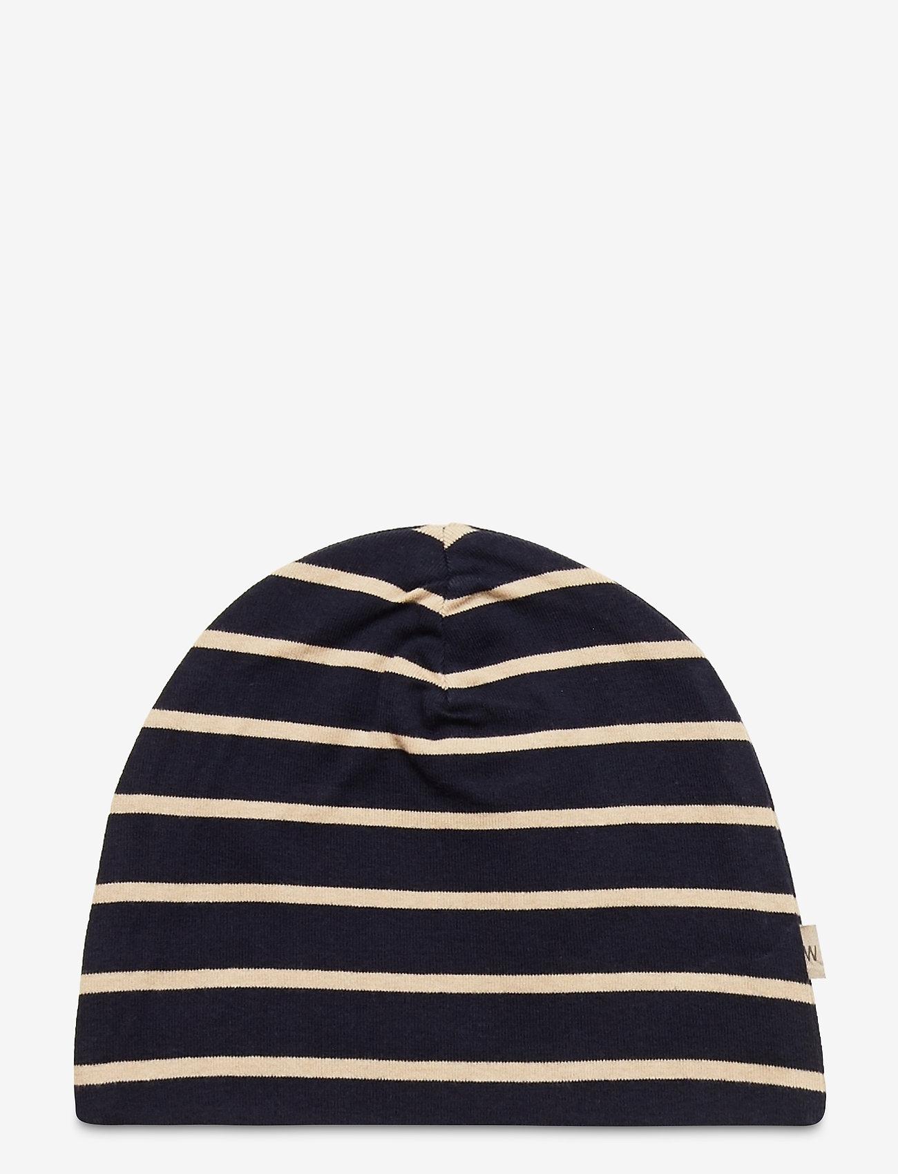 Wheat - Hat Soft - hatte og handsker - marina - 0
