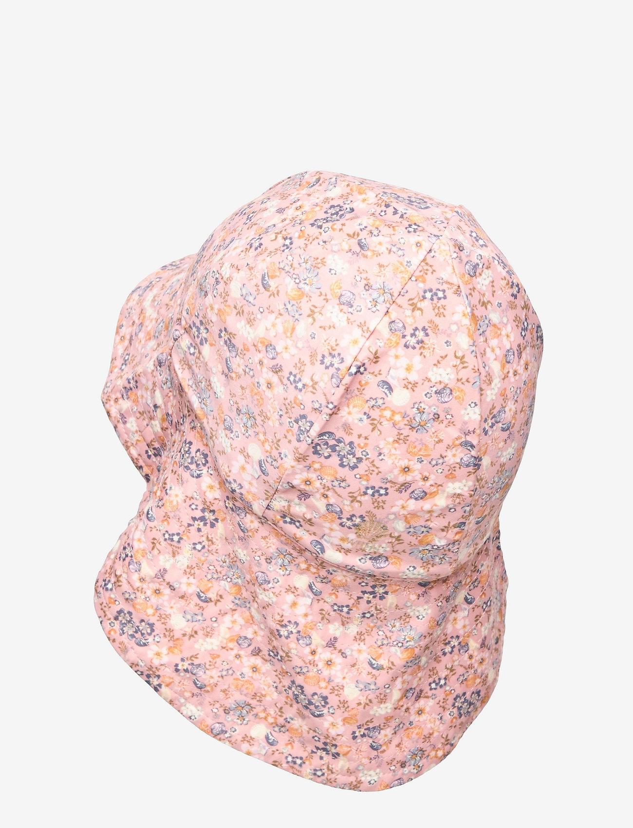Wheat - UV Sun Hat - solhat - flowers and seashells - 1