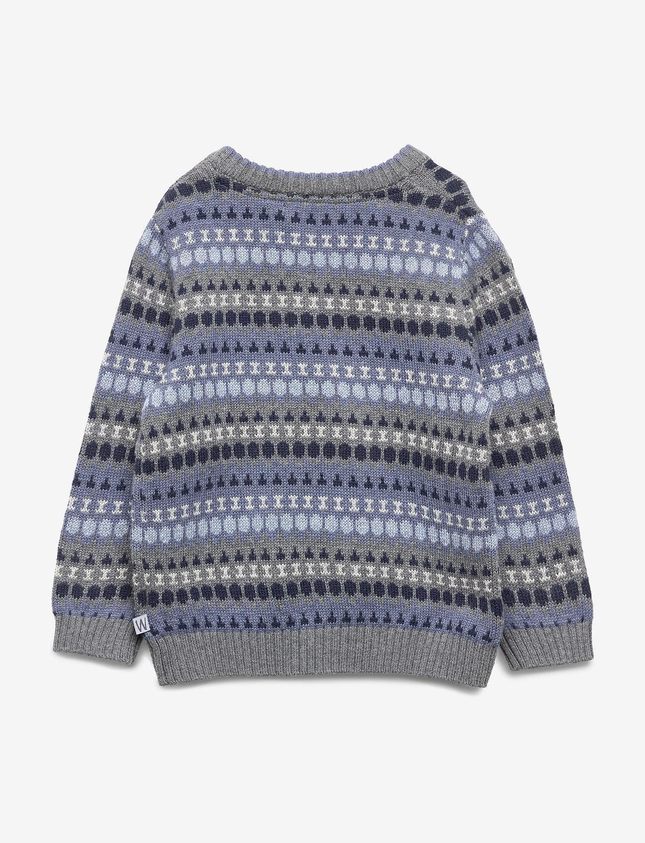 Wheat - Knit Pullover Alexander - dzianinowe - dark melange grey