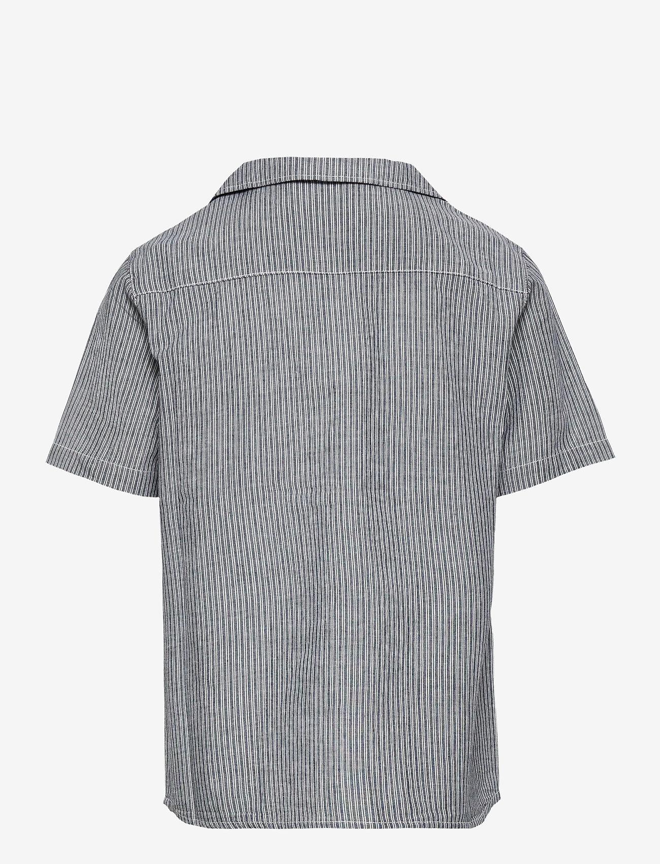 Wheat - Shirt Anker SS - shirts - cool blue stripe - 1