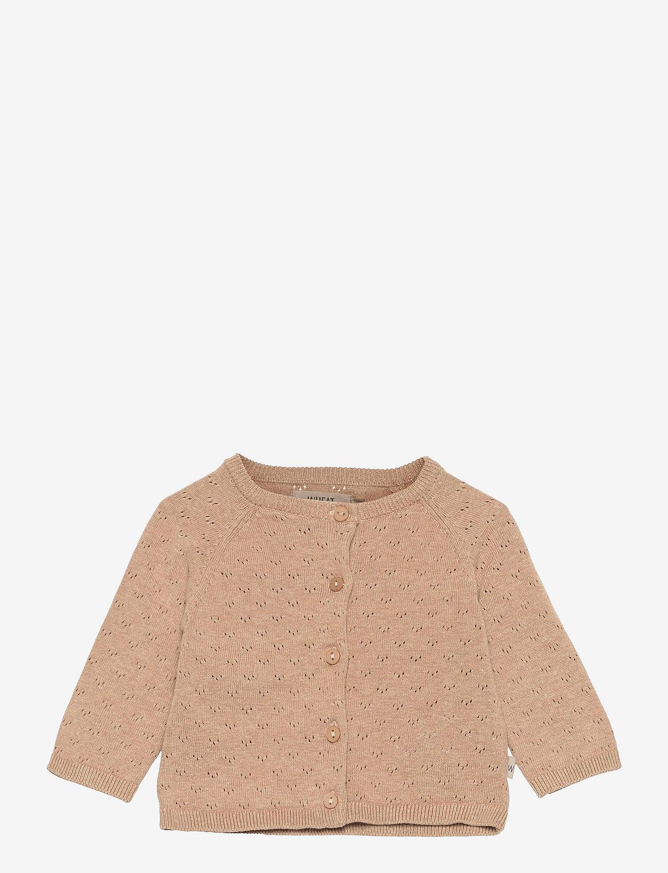 Wheat - Knit Cardigan Maja - gilets - sand melange - 0