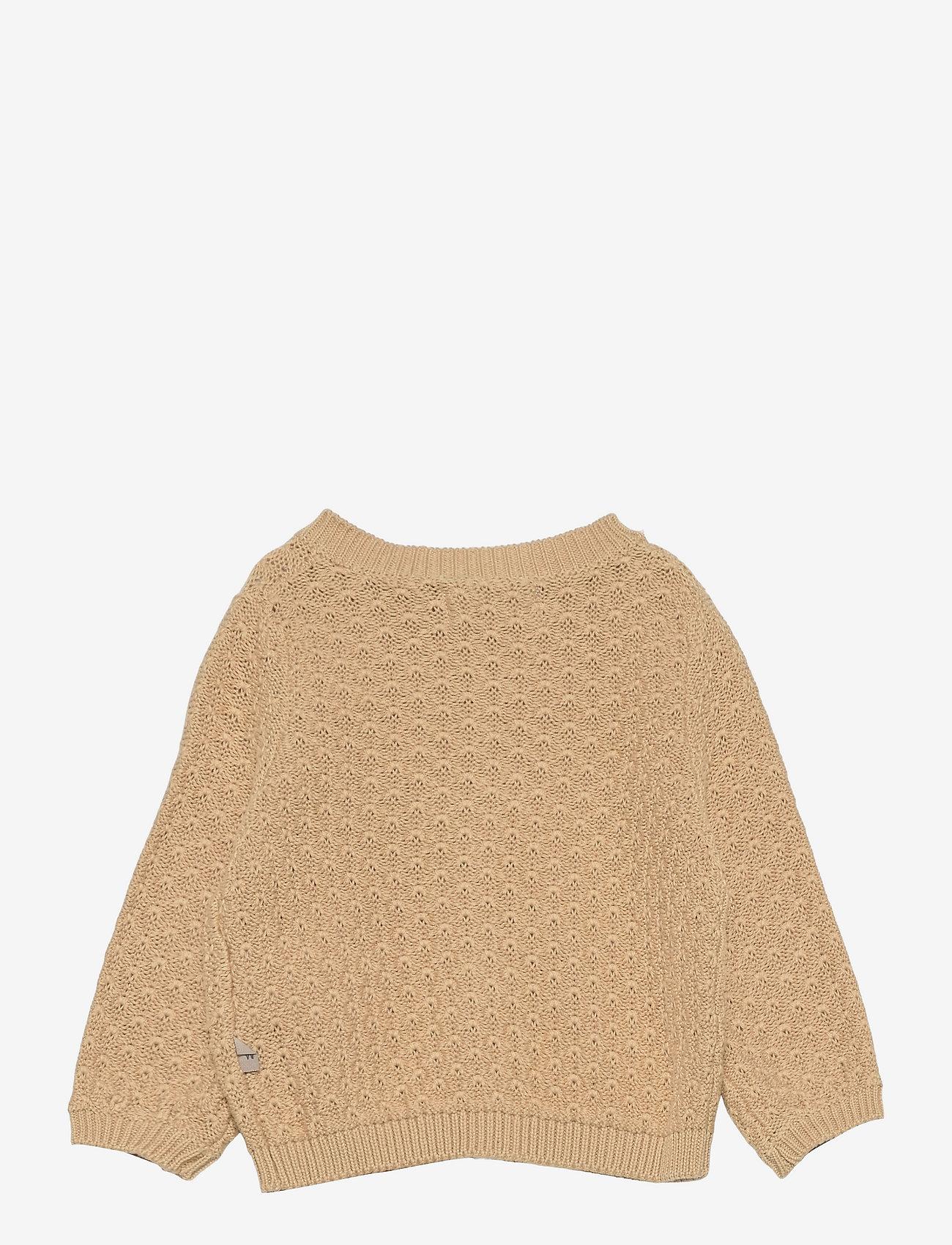 Wheat - Knit Cardigan Magnella - gilets - soft beige - 1