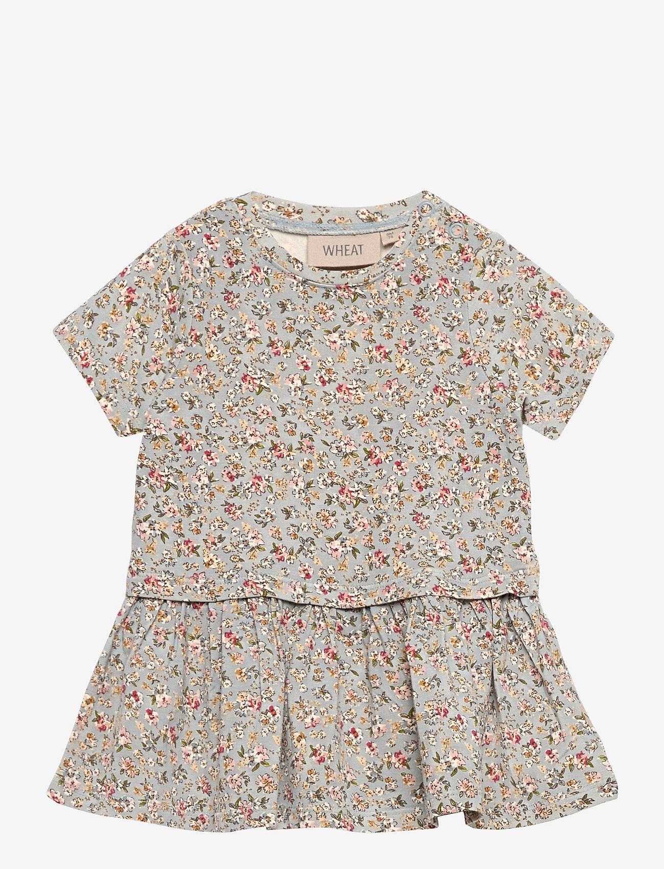 Wheat - Dress Adea - jurken - dusty dove flowers - 0