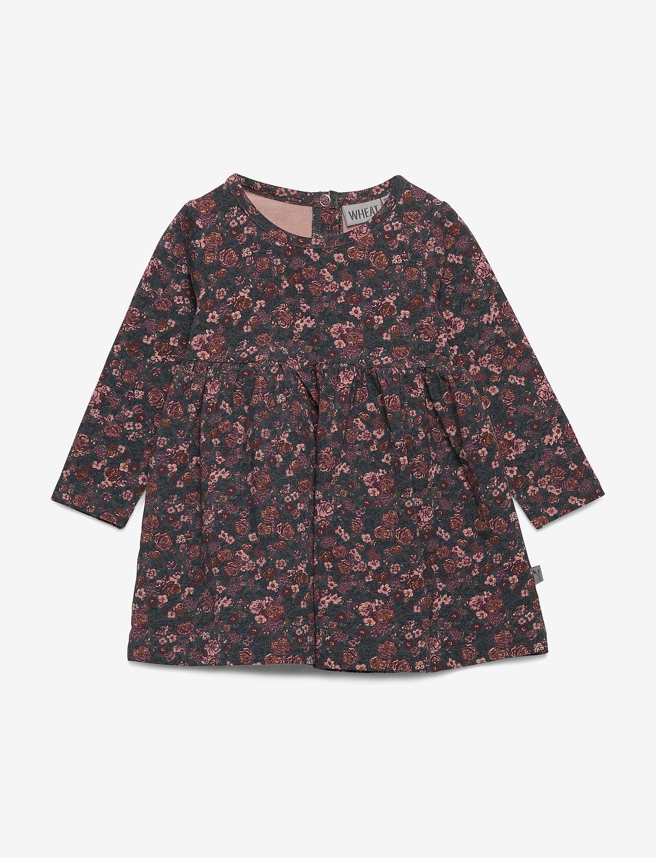 Wheat - Dress Otilde - robes - petroleum flowers - 0