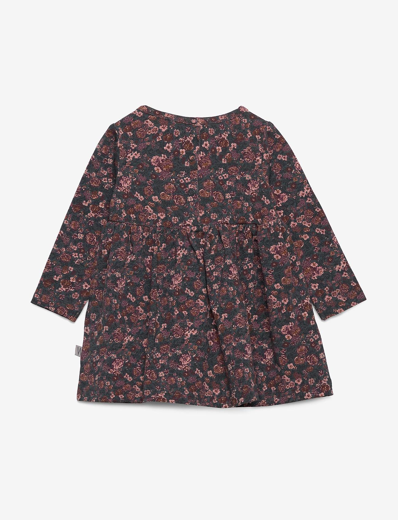 Wheat - Dress Otilde - robes - petroleum flowers - 1